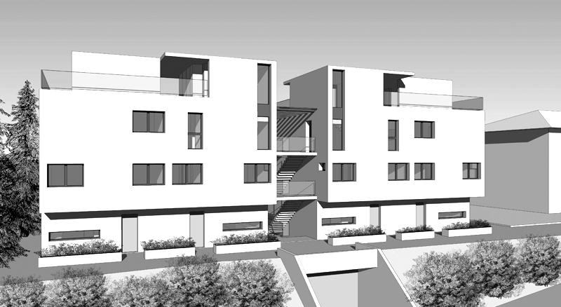 projet pour la construction d 39 un immeuble de 6 alogements avec parking souterrain mcd. Black Bedroom Furniture Sets. Home Design Ideas
