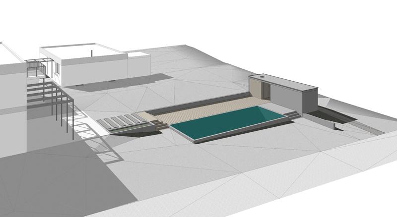 Projet pour la construction d 39 une piscine et pool house gen ve mcd architectes s rl for Construction piscine geneve